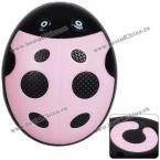 Очаровательный MP3 плеер в виде божьей коровки с поддержкой TF/SD карт (Светло-розовый)