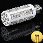 Энергосберегающая светодиодная лампа E27 108 x LED 220V 5W , излучающая тёплый белый свет.