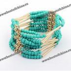 Великолепный многослойный браслет в Богемском стиле украшенный бусинками.(Цвет - лазурный)