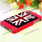 Великолепный защитный корпус украшенный изображением плюшевого Английского флага для iPhone 4/4S.(Цвет - красный)