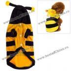 Комфортная теплая плюшевая курточка для собачки в виде пчелы - Оранжевый
