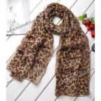 Стильный шарф, леопардовый принт, материал - шифон(цвет - как на картинке)