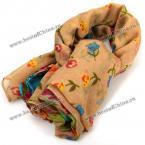 Элегантный шарф, цветочный принт(бежевый)