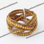 Великолепный браслет в Богемском стиле украшенный бусами и бисером.(Цвет - жёлтый)