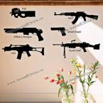Beautiful DIY Home Decoration Wall Sticker Art Mural with Firearms Combination Pattern