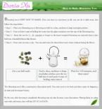 Зеленый распускающийся чай - 16 цветов в упаковке