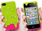 """Защитный чехол из пластика украшенный дизайном в виде """"расплавленного мороженного"""" в формате 3D для iPhone 4/4S."""