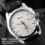 Beinuo водонепроницаемые кварцевые мужские часы с кожаным ремешком. (MN4807)