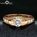 Wedding Ring 18K Gold Plated Polish Rings For Women Fashion Brand Jewelry Antique Golden Rings Accessories (JewelOra Ri100907)