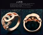 Fashion 18K Rose Gold Plated Ring White Cubic Zirconia Rings For Women  JewelOra #RI100935