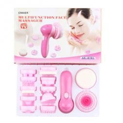 New Hot Selling12-1Multifunction Electrical Facial Cleansing Pink Beauty Brush Massager Kit/Set
