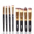 1 set 8PCS Face Eyeshadow Nose Foundation Kit  Makeup Brush Set Cosmetics Foundation blending blush