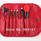2014 new,Professional purple/black/green/red 7 pcs Makeup brush Tools make up brushes Cosmetic Brushes