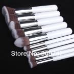NEW 2014,Premium Synthetic Kabuki Makeup Brush Set Cosmetics Foundation blending blush 10 pcs makeup brush tools