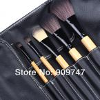 3.25 SALE ,15 pcs Soft Synthetic Hair makeup tools kit Cosmetic Beauty Make up Brush Black Sets with Leather Case
