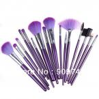2014,Fashionable brushes kits 16 PCS Cosmetic Makeup Brushes Tools Cosmetic make up sets with Purple Leather Case