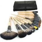 2014 HOT  Professional 24 pcs Makeup Brush Set tools Make-up Toiletry Kit Wool Brand Make Up Brush Set Case