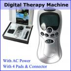 Acupuncture Digital Therapy Machine Slim Massager with AC Power & Color Box Health Care Electronic Pulse Body Massage