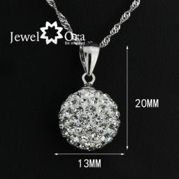 Best Friend Anniversary Gift Designer Brand Necklace Silver Fashion Jjewelry Lady Pendant  (JewelOra PE100863 )