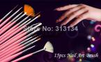 1set 15pcs nail art brush for beautiful nail designs & painting free  shipping