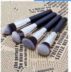 KKLED NEW Soft Synthetic Large Cosmetic Blending Foundation Silver Makeup Brush