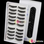 10 Pairs Natural False Eyelashes Extensions Makeup Eye Lashes Black #017 [23309|01|01]