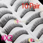 10 Pair Makeup Natural False Eyelashes Eye Lashes  #X2 [11371|01|01]