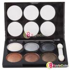 6 Colors EyeShadow Cosmetics Combo Silky Powder EyeShadow Brush Makeup #20411