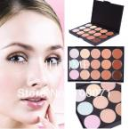 New 2014 Professional Face Care 15 Concealer Primer Camouflage Makeup Palette #2231
