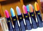 Hot 1PCS 2 Colors Mix a Rainbow Gradient Color Makeup Moisturizing Lip Lipstick # 53823