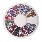 New 1.5mm 1800 Nail Art Rhinestone Glitter Tip Mix Gems #1901