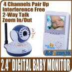 "Digital IR Video Talk Camera Pairing Intercom Zoom Wireless 2.4"" Baby Monitor"