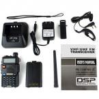 Pofung UV-5R рация с двухсторонней радиосвязью, FM-радио, 128-каналами и наушники в подарок.