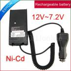 Car Radio Battery Eliminator + Charger Adapter J0070A for Walkie talkie ICOM IC-V8/V82 A6 T3H F3GS F11 two way CB Ham Radio