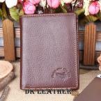 Стильный складной мужской бумажник из натуральной кожи с карманами для визиток.