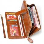 Модный женский клатч-кошелёк из натуральной кожи с коротким ремешком. (V8002)