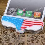 """Защитный чехол """"трусики"""" с Американским флагом для кнопки """"домой"""" iPhone 5 / 4 / 4S."""