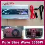 Pure Sine Wave Car Power Inverter 3000W DC 12V to AC 220V USB Car Converter 3000Watt Peak Power 6000W Solar Inverter