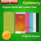 Ультра-тонкий и качественный оригинальный кожаный чехол Xiaomi Mi4 для Xiaomi Mi 4