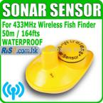 Lucky FFW718S Replacement Spare Sonar 433MHz Water Temperature Wireless Fish Finder Sensor