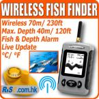 LUCKY FFW718 Fishfinder River Lake Sea Contour Thermometer C/F Wireless Sonar Fish Finder