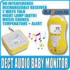 Digital LCD Audio Temperature Infant 2way Talk LED Wireless Baby Monitor