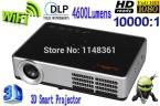 New DLP WiFi Full HD 1280 * 800 Smart Projector 4600 lumens Game Home Theater Projector
