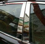 Хромированные накладки-стойки на окна для KIA Sportage R 2010 2011 2012 2013. (6 штуки)