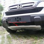 Защитные накладки из нержавеющей стали на передний и задний бампер для Honda CRV 2007 2008 2009. (2 штуки)