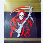 Russia  high quality funny vinyl  devil  Dead Scythe   car stickers and decals for  rear windshield