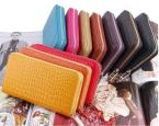Стильный женский клатч-кошелёк из натуральной кожи на молнии.(JJ528)