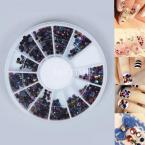 Nail Art Mixed Shape Rhinestones Acrylic Decorations Tips Manicure Gems Tools #61293