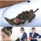 Women Stylish Fashion Cute Trendy Bling Angel Beads Wing Headband Hair Band Gift #11237