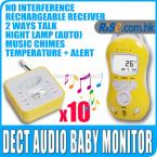 10pcs Digital LCD Audio Temperature Infant 2way Talk LED Wireless Baby Monitor
